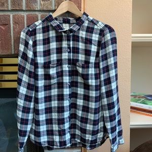Tops - Black, White and Red Flannel